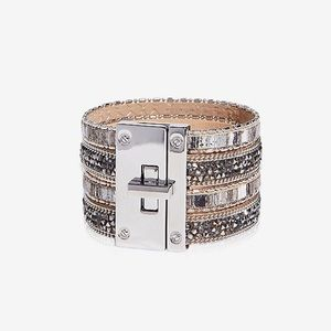 •Express• Grey Multi-Colored Stone Bracelet